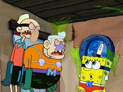 mermaid man vs spongebob spongebob squarepants s5e29 mightyv