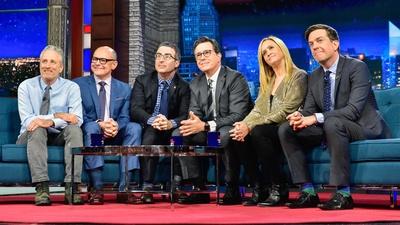 Jon Stewart & Stephen Colbert Reunite with Old Friends